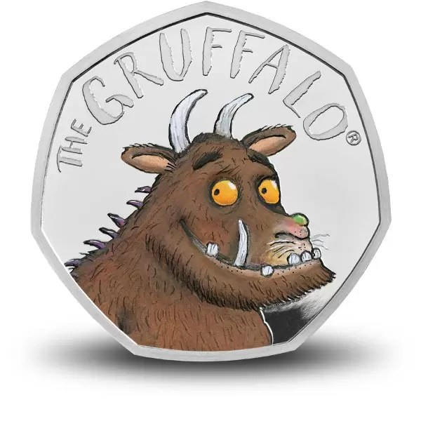 the gruffalo 50p silver proof