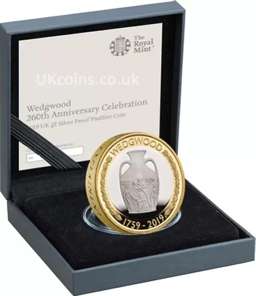 wedgwood silver proof piedfort coin