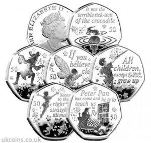 peter pan 50p coins