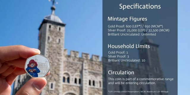 Paddington At Tower of London 50p