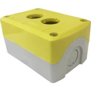 Enclosure (L x W x H) 105 x 69 x 54 mm Grey, Yellow Axxatronic CBCSC2YW-CON 1 pc(s)