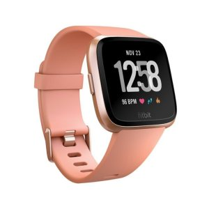 Fitbit Versa Smart Watch - Rose Gold with Peach Strap