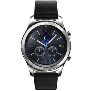 Samsung Gear S3 SM-R770 Classic Bluetooth Smart Watch - Black Strap Silver Leather