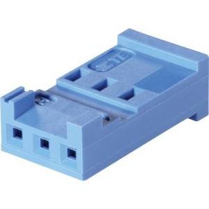TE Connectivity Socket enclosure - cable AMPMODU HE13/14 Total number of pins 6 Contact spacing: 2.54 mm 281838-6 1 pc(s