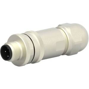 TE Connectivity T4111411041-000 Sensor/actuator connector M12 Plug, straight No. of pins (RJ): 4 1 pc(s)