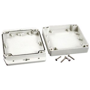 Hammond 1555N2F17GY IP67 PC Enclosure with Flanged Lid L Grey 120 ...