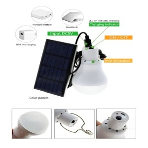 5V 15W Solar Lamp 130LM Powered Portable Led Bulb Light Solar Led Lighting Solar Panel Camp Tent Night Light