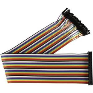 Joy-it RB-CB2-30 Jumper cable Raspberry Pi [40x Wire jumper socket - 40x Wire jumper socket] 0.30 m Multi-coloured Pins