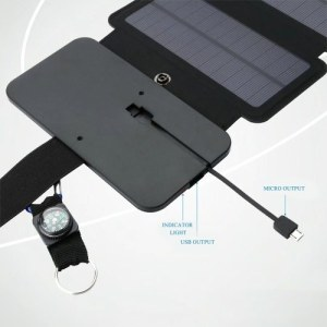 Outdoor Solar Panel Bag Portable Solar Power Recharge Mobile Phone Charging Folding Removable Solar Panels