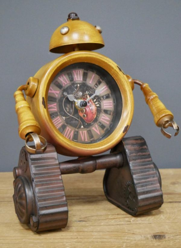 Clank The Industrial Robot Mantel Clock   Gifts For Him Unique Gifts Robots Industrial Furniture Home Accessories