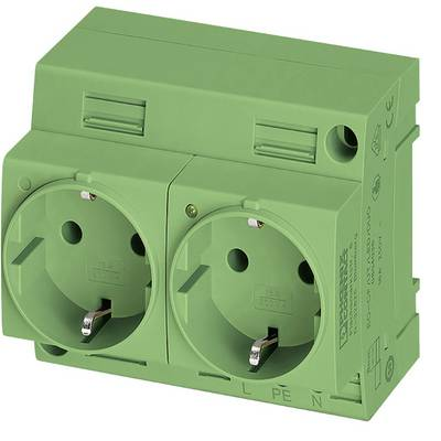 Enclosure outlet Phoenix Contact EO-CF/UT/LED/DUO/GN Green 1 pc(s)