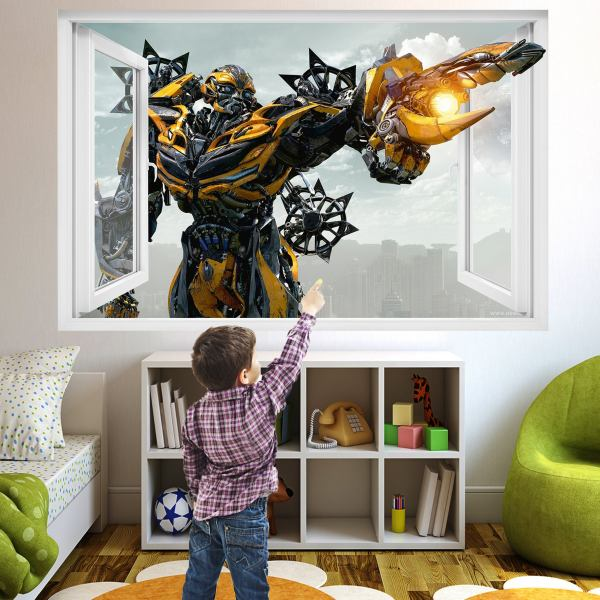 Superhero Robot Transformer Wall Sticker Art Poster Mural Transfer Decal Print Boys Room Home Nursery Office Shop Decor Id357