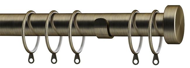speedy 28mm stud end cap 150cm pole set antique brass