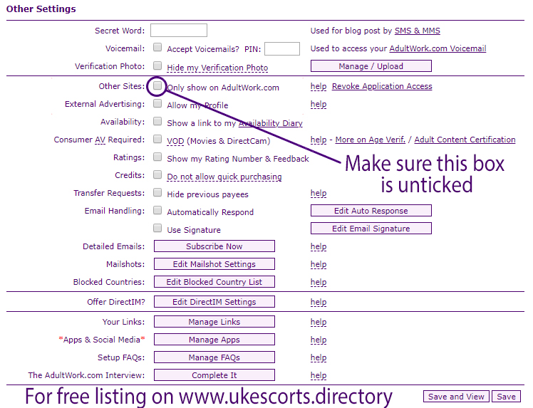 How to get free listing on UK Escort Directory