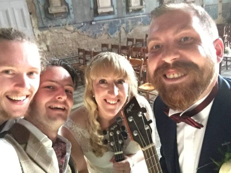 Beautiful ukulele wedding at the asylum peckham