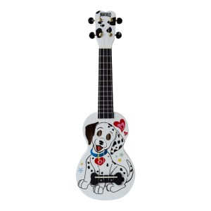 Mahalo Soprano Ukulele Dalmatian With Bag