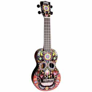 Mahalo Soprano Ukulele Day Of The Dead Design