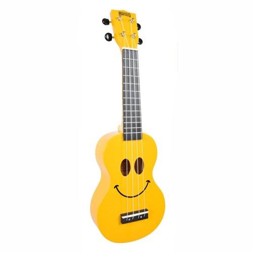 Mahalo Soprano Ukulele Art Design Smile Yellow