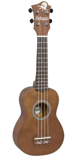 Octopus Natural Series Soprano Ukulele Brown