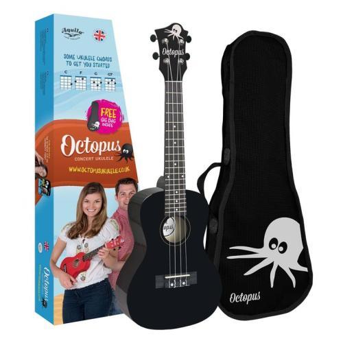 Octopus concert ukulele Black