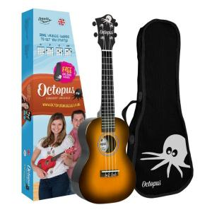 Octopus concert ukulele Old violin burst