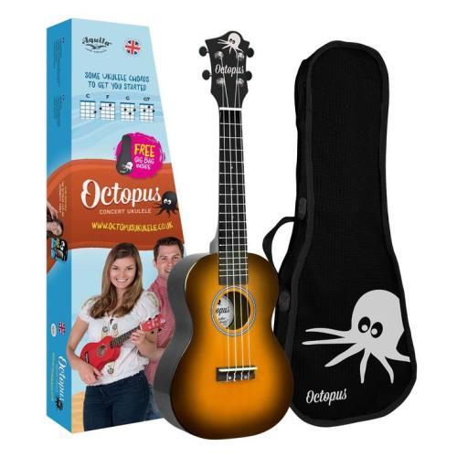 Octopus concert ukulele Old violin burst