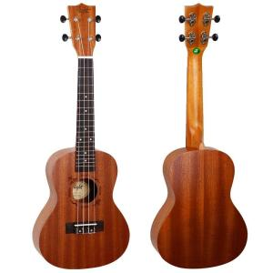 Flight NUC310 Concert Ukulele Sapele with front back look