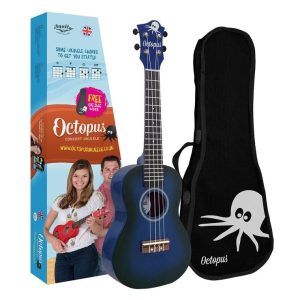 Octopus concert ukulele ~ Dark blue burst