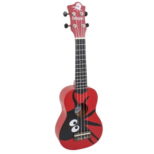 Octopus Kane series soprano ukulele Red