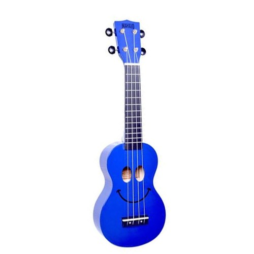 Mahalo Ukulele Art Design Smile Blue