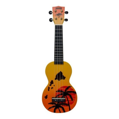 Mahalo Soprano Ukulele Hawaiian Orange