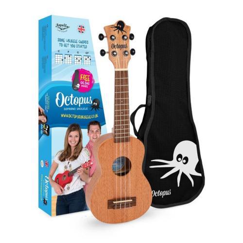 Octopus soprano ukulele Natural With Box