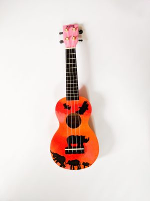 Art By Laura Joanne's Toto Africa Hand Painted Soprano Ukelele
