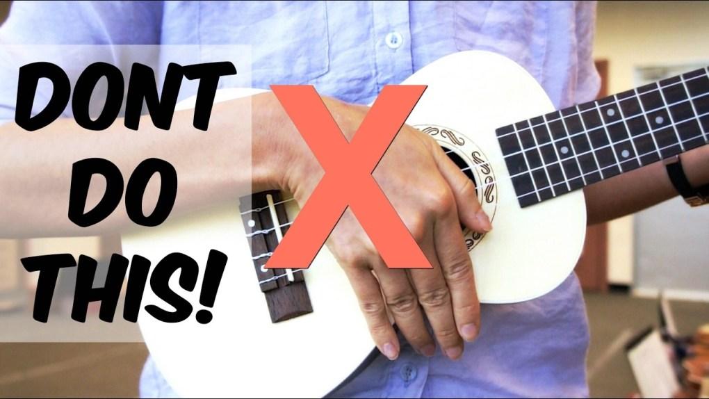 hold the ukulele proper - UkeUniverse