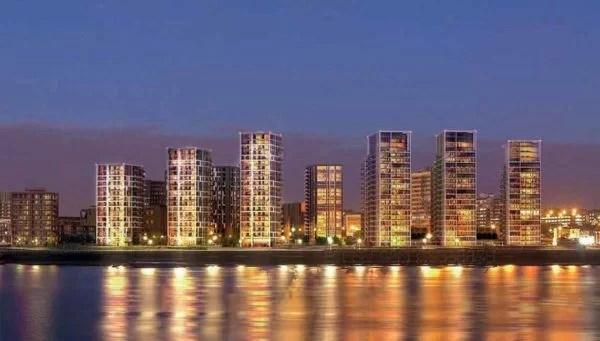 panoramica con vista di notte waterfront ii