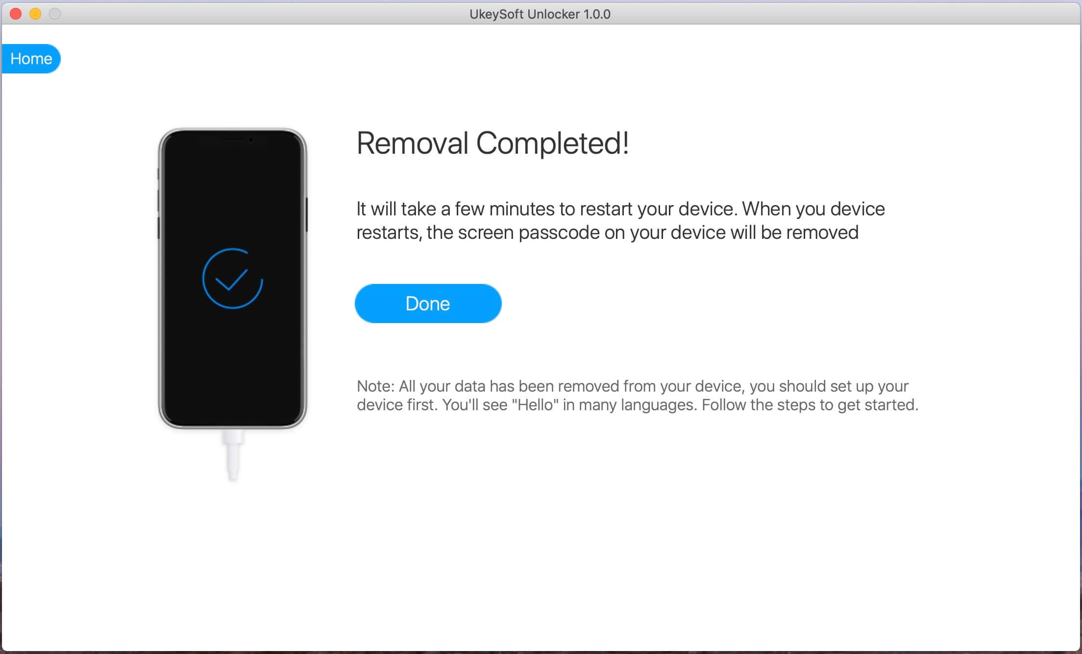 Az iPhone zárolás képernyő nyitva van