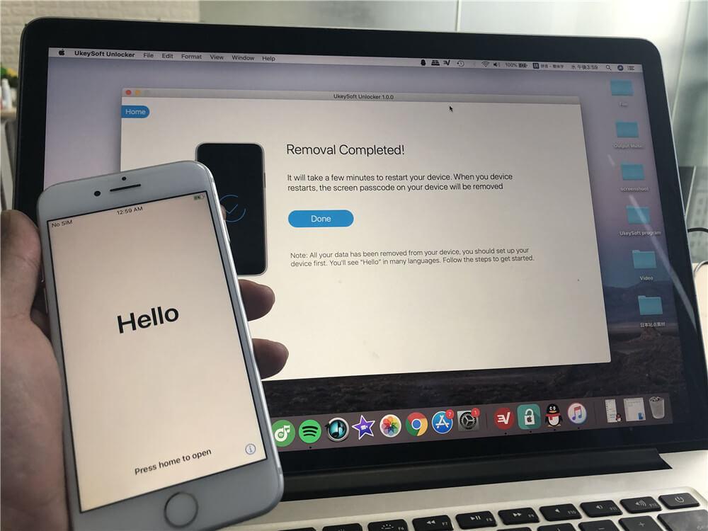 IPhone jelszó törlése