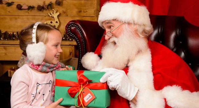 Meet Father Christmas in his magical grotto