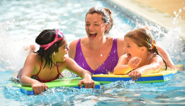 Indoor and outdoor swimming pools at all Holiday Parks