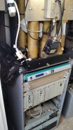 An old shot showing the old MN cavities on top of the rack and the old FM simoco repeater at the top of the rack that was used for MN before changing to the Yaesu Fusion repeater