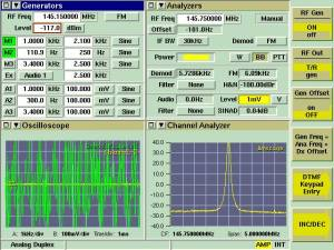 Cavity/Duplexer test results