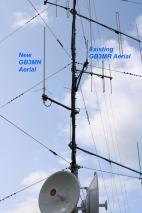 New antenna on mast 2018