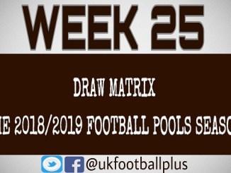 Wk 25 - Football pools draws