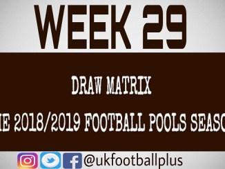 Week 29 football pools draws