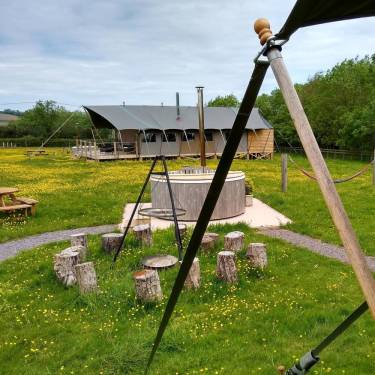 safari tent glamping in Somerset