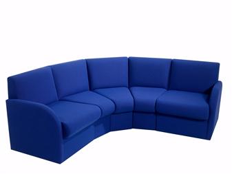 Medical Reception Seating BRS Curve Box Reception Sofa