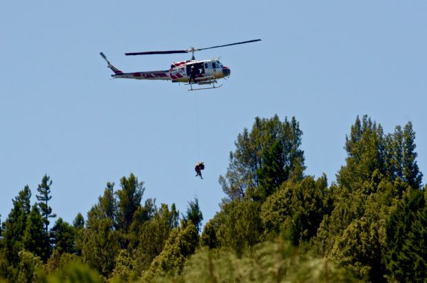 Hiker rescued above Low Gap Park in Ukiah Sunday