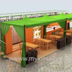 40ft Container Food Shop Outdoor Shipping Container Restaurant Inside Design Mall Kiosk