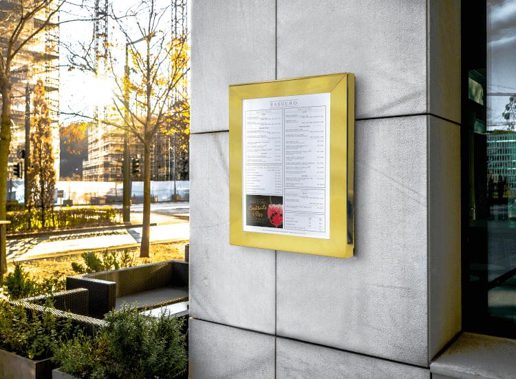 outdoor poster frame waterproof snap