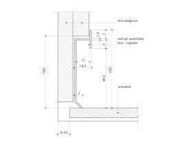 Алюминиевый плинтус скрытого монтажа Р-2-100 LED
